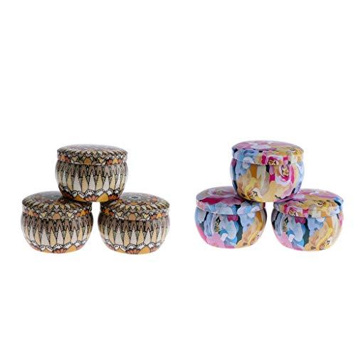 Baoblaze 6 Stück DIY Cremedose Leere Dosen Schraubdose mit Schraub-Deckel, Leer Döschen Behälter für Kosmetik, Tee Kerzen Aroma und Gewürz (Lipgloss Im Döschen)