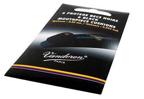 Vandoren - Bissgummis für Saxophon/Klarinette - 6er Pack - schwarz - 0,8 mm