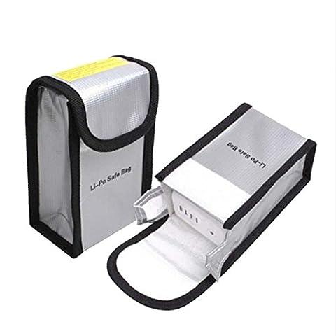 Hunpta Battery Fireproof Explosionproof Storage Bag Case Safety For DJI SPARK (silver)