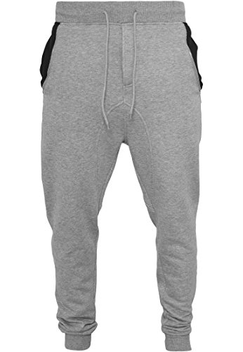 Urban Classics Sweatpants Side Zip Contrast Pocket gry/blk