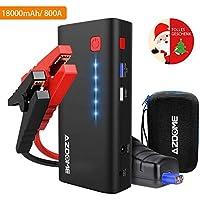 Azdome Booster Batterie Voiture 18000mAh 800A Demarreur de Voiture jusqu'à 6.5L de Gaz et 5.5L de Moteur Diesel Booster Batterie Portable Chargeur Batterie Urgence avec LED Flashlight