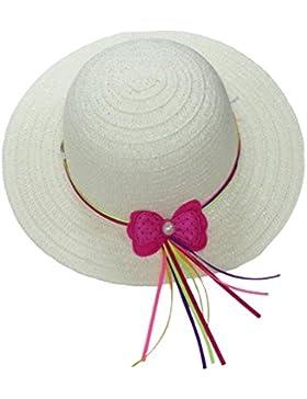 JTC Bambina Cappello e Berretto da Sole di Paglia e Nastro per Bambine 1  -5Anni e9903faad1e2