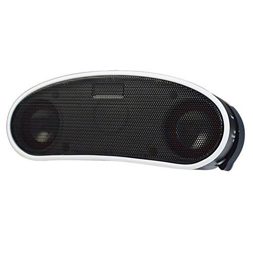 Evary Drahtlose Bluetooth - Lautsprecher Wasserdicht Freisprechanlage Fahrrad Tragbare Karte Radio Doppelte Horn Mit licht - Funktion, Fahrrad - Mini - Audio (weiße rand)