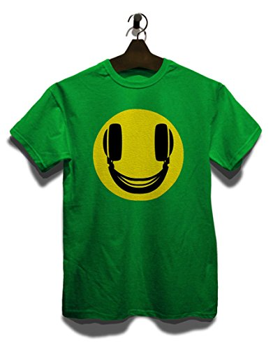 Headphone Smiley T-Shirt Grün