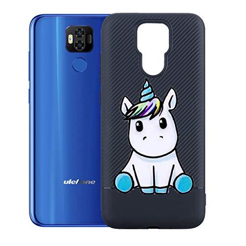 """ZXLZKQ Custodia Pony Carino per Ulefone Power 6 (6.3"""") Cover, Protezione Posteriore Morbido Silicone Trasparente Gel TPU Cover Slim Case per Ulefone Power 6 (6.3"""")."""