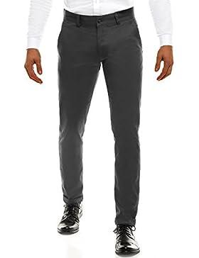 OZONEE Pantalones De Hombre Pantalones Chinos Pantalón de traje Negocios Boda Ajustado black rock 202