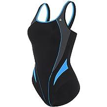 Aqua Sphere Bañador para mujer Lita, mujer, SW127014250, negro y azul real, talla 44