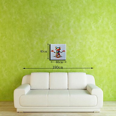 16 In Leinwand (HY&GG Lager Von Hand Bemalt Kloster Frosch Tierisches Öl Gemälde Auf Leinwand Wand Kunst Bild Für Wohnkultur Whit Rahmen, 16