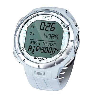Oceanic Oci Tauchcomputer, Armbandmodell, mit USB-Kabel - ohne Sender- weiss -