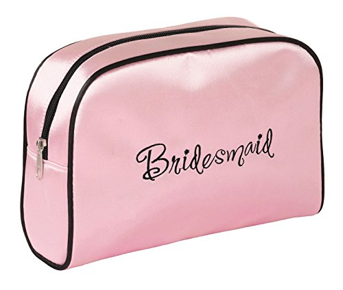 Lillian Rose 9-inch by 6.5-inch Bridesmaid Travel Bag, Medium, Pink