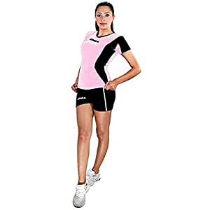 LEGEA KIT COMPLET BASILICATE VÊTEMENT FEMME VOLLEY VOLLEY-BALL TOURNOI SPORT NOIR-ROSE ROSA-NERO M