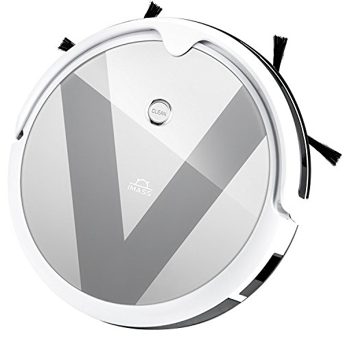 Smart Saugroboter mit Wischfunktion A3 Silber automatischer Staubsauger Roboter (120min Laufzeit, Smartphone-App, Direktabsaugung, 0.8L Staubbehälter, 0,35L Wasserbehälter, mit Smart 2.0 Gyroskop-Reinigungswegtechnologie)
