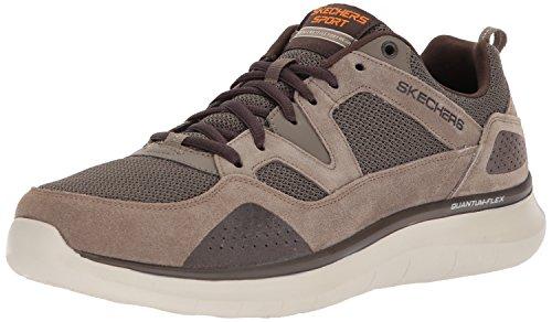 Skechers Herren Quantum-Flex-Country Walker Sneaker, Braun (Brown), 41.5 EU