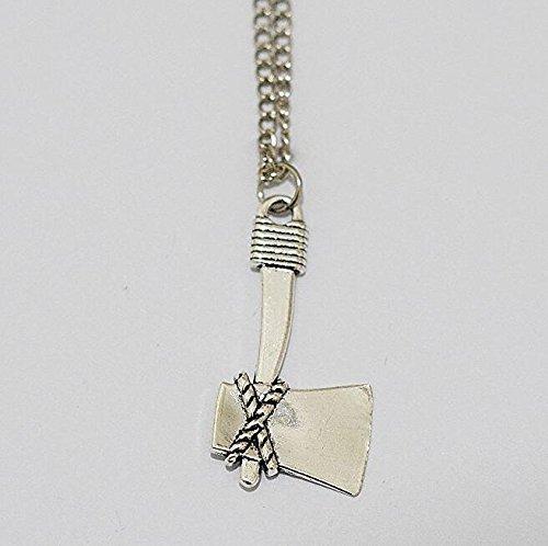Axt Halskette, Chopper Halskette, Silber Axt Charm Halskette, Halskette 41250, Axt Anhänger, Hunter Halskette, Schlacht Axt Schmuck, Holzfäller