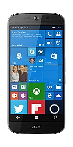 Acer Liquid Jade Primo LTE Windows 10 Phone (14 cm 5,5 Zoll AMOLED, 1920 x 1080 Full HD Pixel, Hexa-Core-Prozessor, 3GB RAM, 32GB Speicher, Microsoft Continuum )