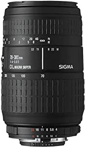 Sigma 70–300mm F4–5.6APO DG Macro (Pentax) Black–Camera Lenses (1.5m, 70–300mm, 34.4°, Black, 7.66cm, 5.8cm)