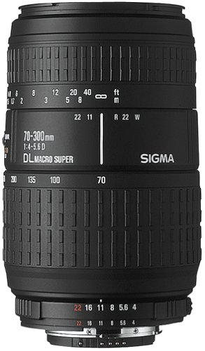 Sigma 70-300mm F4-5.6 APO DG MACRO (Pentax) Black - camera lenses (1.5 m, 70 - 300 mm, 34.4°, Black, 7.66 cm, 5.8 cm)