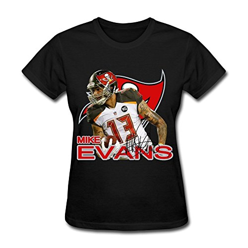 Damen's Tee Shirt Mike Evans 13# Tampa Bay Buccaneers Team Logo schwarz
