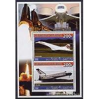 Djibouti 2006 Concorde Souvenir Sheet 2 Values #2 Space Shuttle MNH JandRStamps