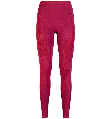 Odlo Damen Evolution Warm Baselayer Pants Thermo Underwear, Sangria - Zinfandel, S