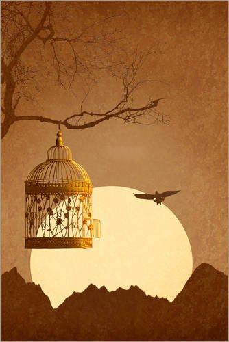 Posterlounge Forex-Platte 20 x 30 cm: Freiheit vom Goldenen Käfig von Monika Jüngling