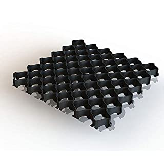 Rasengitter, Bodengitter, 500 x 500 x 36 mm mit Clipsystem ohne Bodenanker, Kunststoff, ab 8 Stück (40, schwarz)