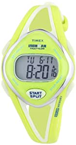 Timex Women's Quartz Watch with LCD Dial Digital Display and Yellow Resin Strap T5K656SU