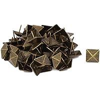 sourcingmap® 19mm de diám tapicería cuadrado Clavo Tachuela decorativa Semental Alfiler Chincheta 60pcs