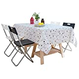 LHR888 Grey Wipe Clean Nappe 40 * 70CM - Nappe de Table de Pique-Nique Lavable Rectangle de 140 * 220CM (Size : 40 * 70CM)