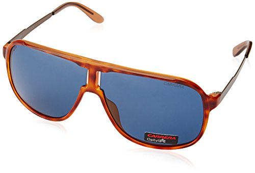 Carrera Herren New Safari KU TVM Sonnenbrille, Braun (Lthvna Brown/Blue Avio), 62