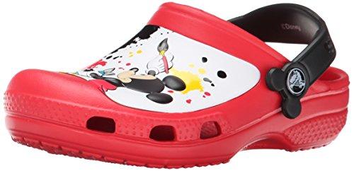 Crocs CC Mickey Paint Splatter K, Zoccoli e sabot, Unisex - bambino, Rosso (Red), 27-29