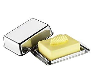 Küchenprofi Kühlschrank-Butterdose ½ Pfund, Edelstahl, Silber