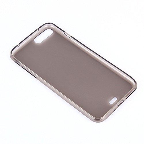 tinxi® spedizione rapida!Custodia Silicone per Apple iphone 7 Plus(5,5 pollici) Anti-shock/Scivolo Cover Case TPU prottetiva con PC Gold Mobile phone frame Trasparente/Nero/Opaco(Matte)