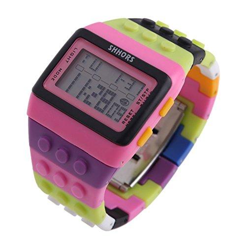 Reloj de pulsera de multifuncion de color - SHHORS Reloj de pulsera de nino  LED impermeable 3ea268fad988