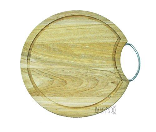 tagliere in legno tondo rotondo 30 cm con manico vassoio salumi formaggi cucina cucina