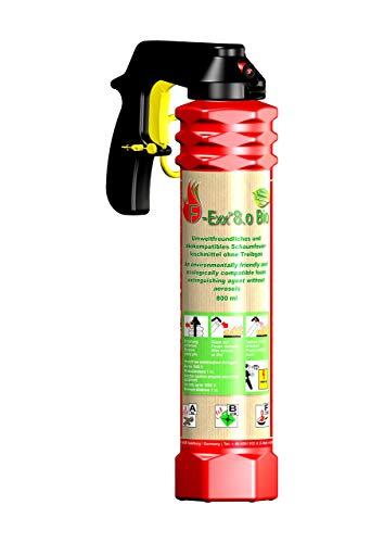 fettfeuerloescher F-Exx 8.0 Bio - Der umweltfreundliche Bio-Feuerlöscher inkl. Wandhalterung (Made in Germany)