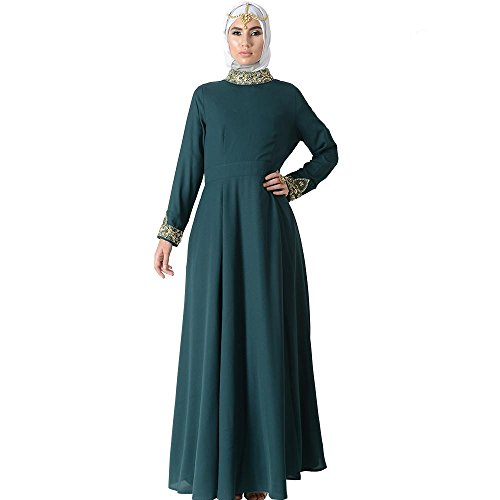 Princess Jeweled Neck Eid Abaya Dress+Hijab