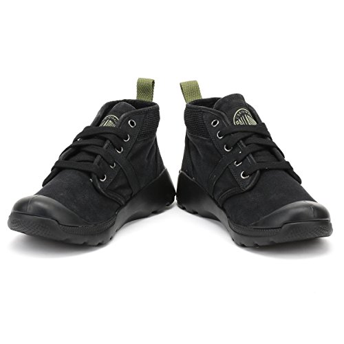 Palladium Pallaville Hi Cms, Baskets Hautes Homme Noir (Black/Cedar Green)