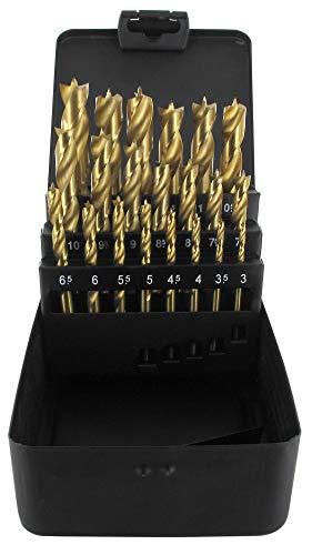 ENT 09240 21-tlg. Holzbohrer-Set - Titan Beschichtung - 3-13mm in Stahlkassette