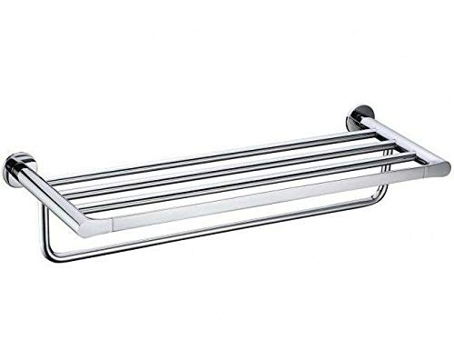 Flow Wand-regal (FLOW TOWEL RACK 600mm Wandmontage, Zink & Edelstahl CHROM)