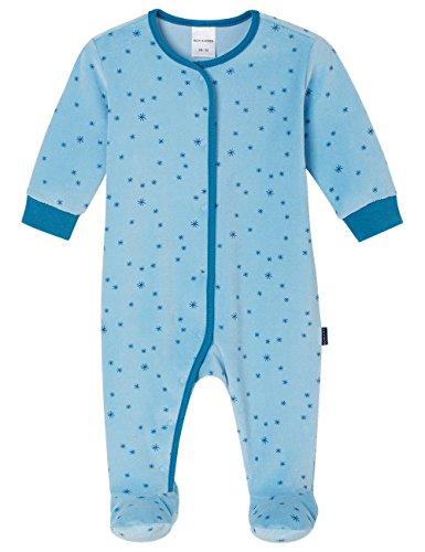 Schiesser Jungen Schlafstrampler Baby Anzug mit Fuß, Blau (hellblau 805), 56