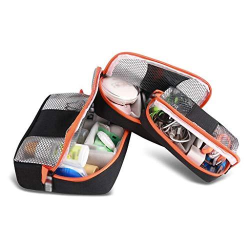 Trois pièces Sac cosmétique de Stockage étanche Grande capacité extérieure Multifonction Portable Simple Voyage Wash Wash Universal 4 Couleur MUMUJIN (Couleur : Noir)