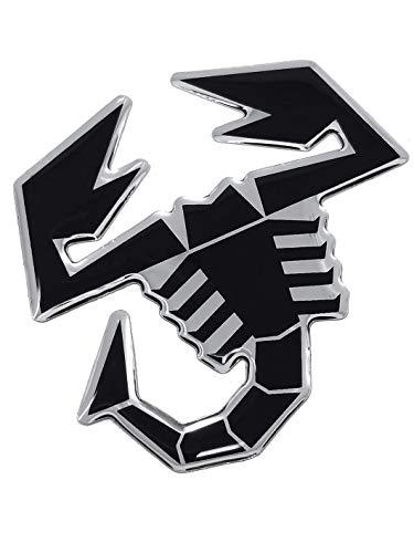 Abarth 21541Stickers Aufkleber 3d Skorpion, schwarz, 65mm