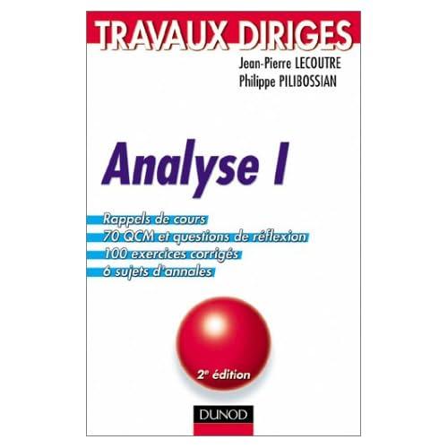 Analyse, tome 1 : Travaux dirigés