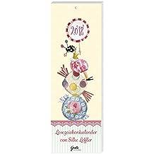 Lesezeichenkalender 2018 'Süßigkeiten' aus dem Grätz Verlag, mit süßen Illustrationen von Silke Leffler