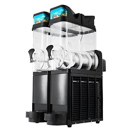 Ambesten Slushmaschine Slush Maker Slusheis Maschine 15L x 2 Frozen Drink Slush Machine Double Bowl Margarita Slush Frozen Drink Machine Frozen Drink Maker for Commercial and Home Us (15L Double Bowl)