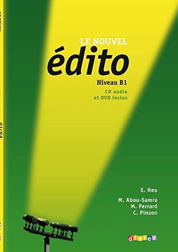 Le Nouvel Edito: Livre de L'Eleve B1 + CD + DVD (French Edition) by collectif (2013-05-13)