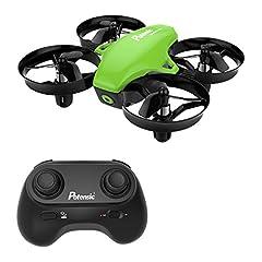 Idea Regalo - Potensic Mini Drone Drone con Telecomando Quadricottero Funzioni Sospensione Altitudine Un Pulsante di Decollo Atterraggio modalità Senza Testa Adatto per Principianti Buon Regalo per Bambini Verde