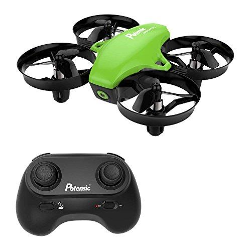 Potensic Mini Drone, RC Drone 2.4G 4 Canales 6-Axis Gyro, Quadcopter con Modo sin Cabeza, Altitud Hold, Alarma de Batería y Fuera de Rango y 3 Modos de Velocidad, Regalos y Juguetes, A20 Verde