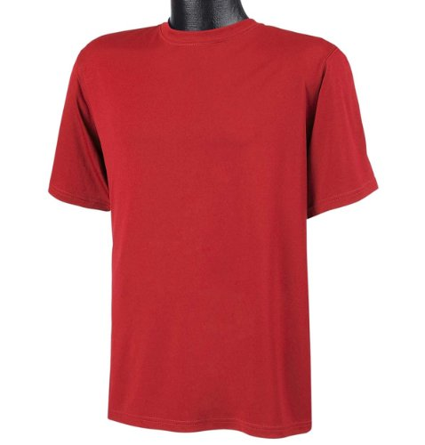 Stag Party, Brown auf American Apparel Fine Jersey Shirt rot - Scarlet